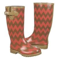 nomad rain boots puddles browan coral chevron