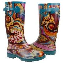nomad rain boots Puddles turquoise monet