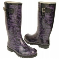 Nomad rain boots puddles snakeskin