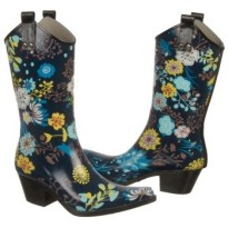 nomad rain boots Yippy floral