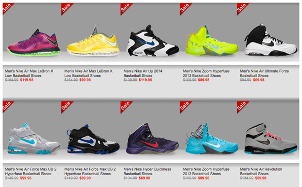 nike outlet header