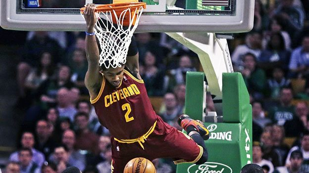 kyrie irving cavs dunks