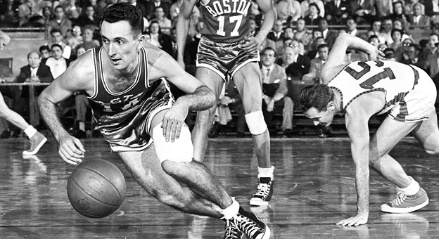 best ball handlers ever NBA history - Celtics Bob Cousy